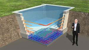 piscine ses fondations standarm youtube With plan de piscine beton