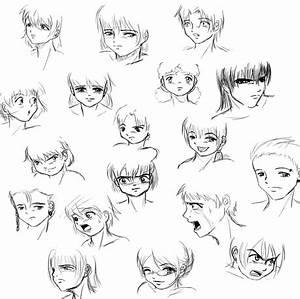 Tribal Tattoo Bicep: Cute Anime Sketch