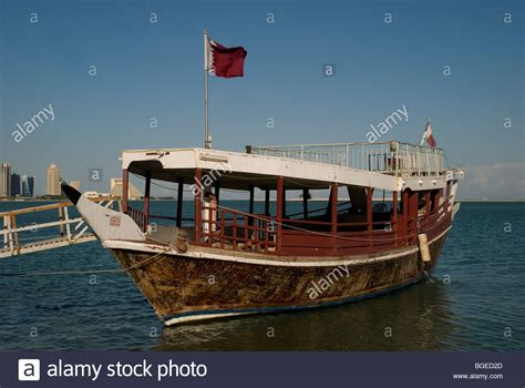 Fishing Boat Qatar by Traditional Dhow Pearl Fishing Boat At The Corniche Doha