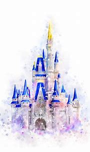 Disney Castle Watercolor Art Print Cinderella Castle ...