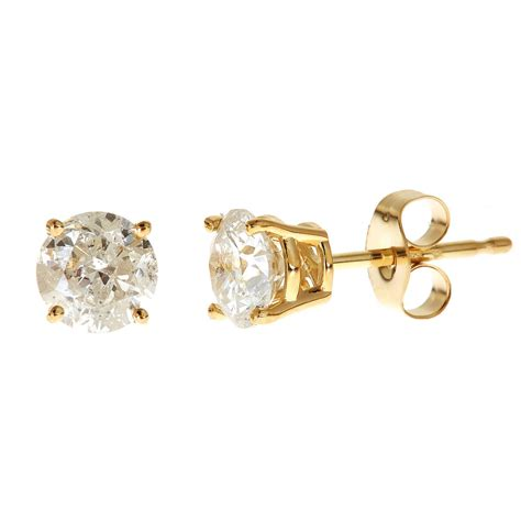 boy earrings  walmart  carat tgw cz kt gold