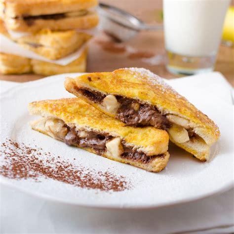 recette cuisine hiver recette croque de perdu banane chocolat facile rapide