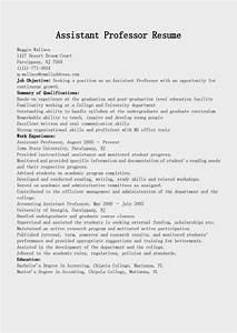 resume samples assistant professor resume sample With resume templates for assistant professor