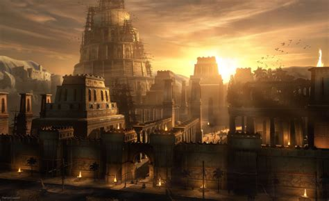 siege lacoste raphael lacoste sunset on babylon cities wallpaper