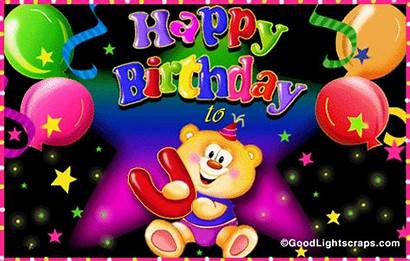 Birthday Glitter Animated Greetings Happy Wishes Graphics