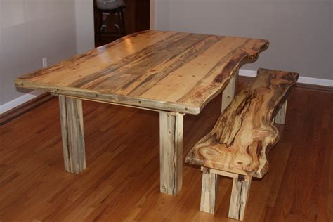 beetle kill pine dining room table  bench  jstretch