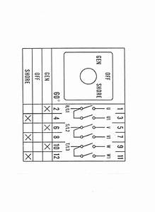 Rotary Cam Switch Wiring Diagram For Change Over