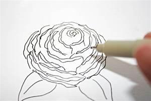 Comment Faire Une Rose En Papier Facilement : rose fleur dessin simple ~ Nature-et-papiers.com Idées de Décoration