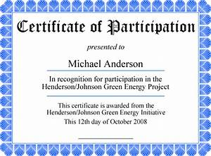 Certificate Of Participation Template Free Free Printable Certificates Personalize It Then Print It