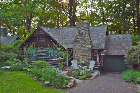 lake mohawk nj log cabin  sale rustic exterior