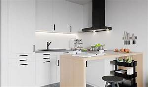 Cuisine Blanc Et Noir : cuisine design blanche et noire ~ Voncanada.com Idées de Décoration