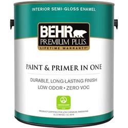 Home Depot Interior Paint Brands Behr Premium Plus 1 Gal Ultra White Semi Gloss Zero Voc Interior Paint 305001 The Home Depot