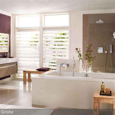 Modernes Bad In Aubergine  Einrichtung Pinterest