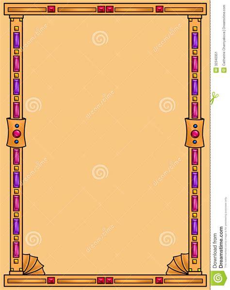 egyptian jewelry background frame stock illustration