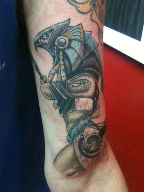 coloured egyptian god arm tattoo tattoomagz tattoo