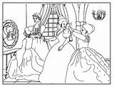 Cinderella Coloring Pages Disney Dance Ballroom Cut Draw Sheets Dressing Everyone Paste Colouring Princess Cartoons Cartoon Comment Leave Popular Inside sketch template