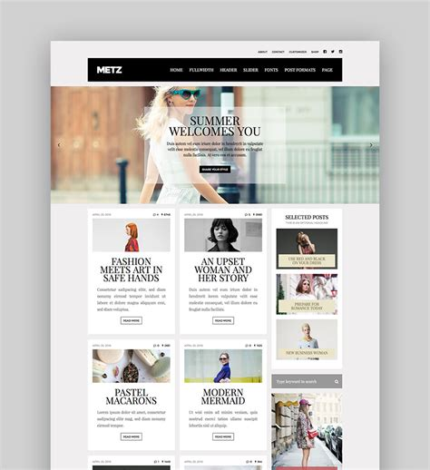 Website Themes Best Magazine Themes For And News Websites