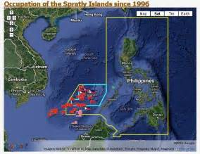 Map of China Philippines Spratly Islands