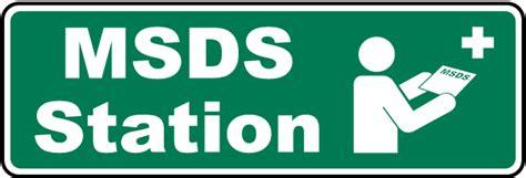 Msds Station Sign H1665