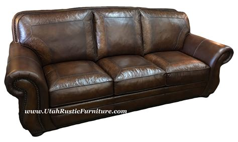 Rustic Leather Loveseat by Rustic Leather Hide A Way Bed And Sleeper Sofas