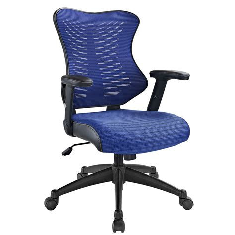 modway clutch office chair in blue beyond stores