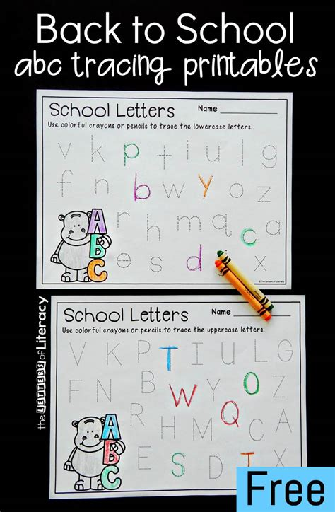 printable   school alphabet tracing printables