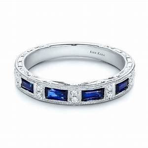 blue sapphire wedding band with matching engagement ring With sapphire engagement rings with wedding band