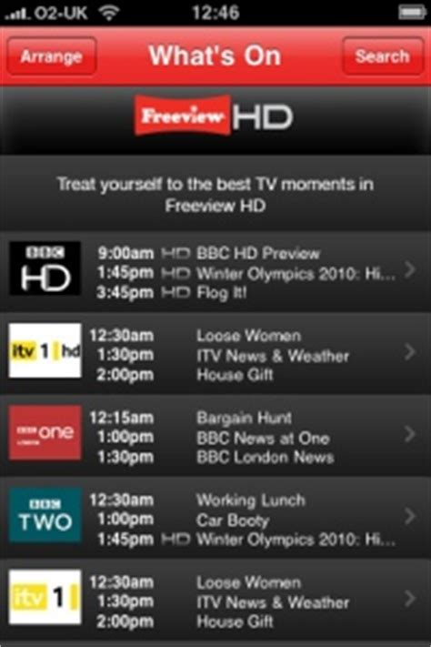 Freeview Launches iPhone App | Radio & Telly UK
