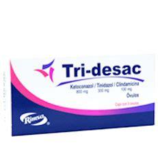 tri desac ketoconazol tinidazol vaginosis ovulos