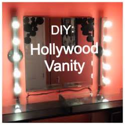 Vanity Mirror With Light Bulbs Around It by Diy Saturday Hollywood Vanity Youtube