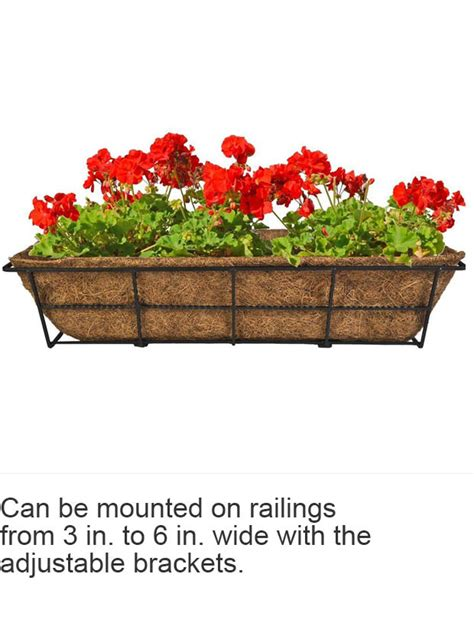 cobraco canterbury   steel deck rail planter dpbcb
