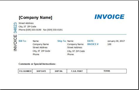 service invoice  deposit deduction excel invoice