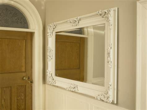 Large Ivory Ornate Framed Mirror Bathroom Kitchen Wall