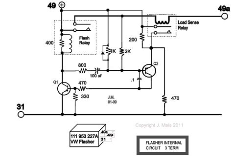 vw 6 volt turn signal wiring diagram universal turn signal