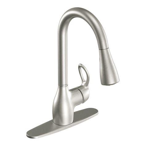 clean kitchen faucet moen kleo single handle pull sprayer kitchen faucet