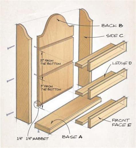 Spice Rack Woodworking Plans spicerack illustration1