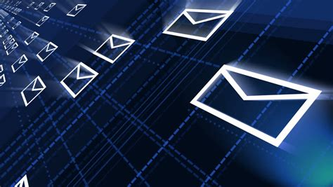 Background Email by Seamless Loop Background Flying Mails Stock Footage