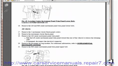 small engine repair manuals free download 2009 ford explorer instrument cluster ford f150 2009 2010 service manual and workshop youtube