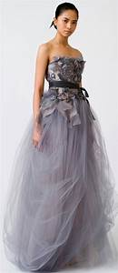 no one does non white wedding dresses like vera wang With grey wedding dress vera wang
