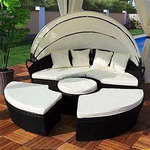 Lounge Insel Outdoor : polyrattan sonneninsel 180cm sonnenliege gartenliege rattan insel liege sitzgruppe m bel24 ~ Bigdaddyawards.com Haus und Dekorationen