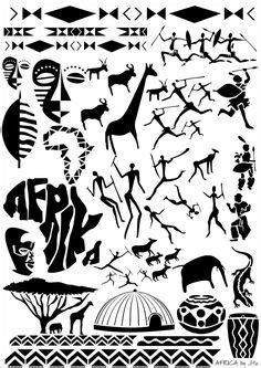 African Roots Black Power piece. Tattoo idea.   Black Ink