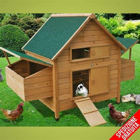 Gabbie Per Galline Usate - pollaio in legno a casetta per 6 galline ovaiole