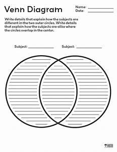 Free Printable Venn Diagram From Crabtree Publishing