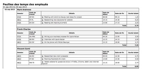bureau plus ca hourglass logiciel de rapport des employés