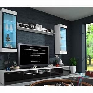 Meuble Tv Suspendu Led : ensemble meuble bas tv design avec led deauville achat vente meuble tv ensemble meuble bas ~ Melissatoandfro.com Idées de Décoration