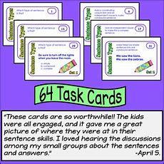 Simple, Compound, And Complex Sentences Task Cards By Rachel Lynette