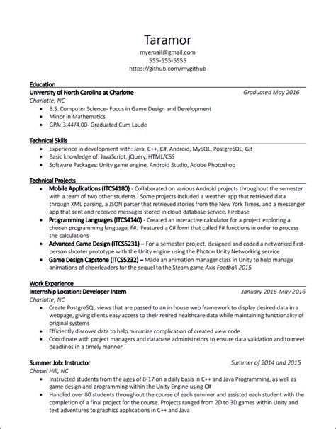 resume advice thread may 17 2016 cscareerquestions