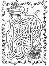 Labirinto Labyrinth Colorare Labyrinthe Marin Tesoro Labirinti Bambini Camino Sous Coloriage Ausmalbilder Piraten Encuentra Kinder Trova Stampare Doolhof Schatz Disegni sketch template