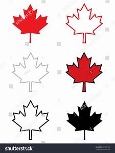 A Collection Of Vector Canadian Maple Leaf Icons ...