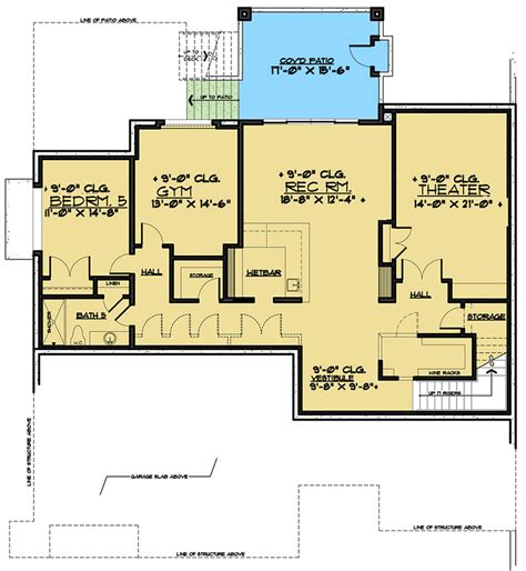 sprawling contemporary house plan  ample outdoor space raf architectural designs